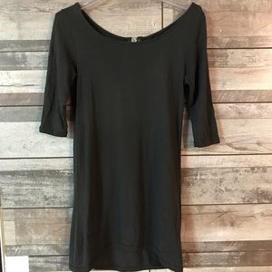 Zara basic evening black dress back zipper Sm.